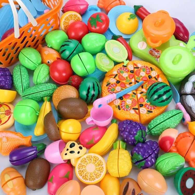 儿童过家家切水果玩具蔬菜披萨宝宝厨房男女孩切切看切乐玩具套装