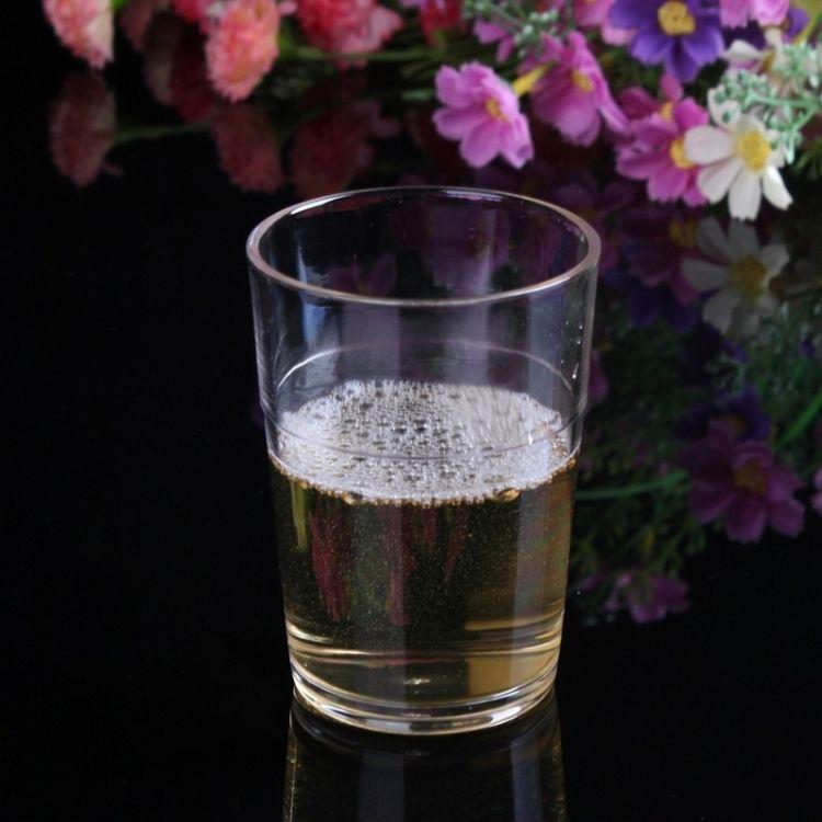 KTV餐厅亚克力酒杯啤酒杯威士忌酒杯塑料透明水杯酒吧白酒一口杯