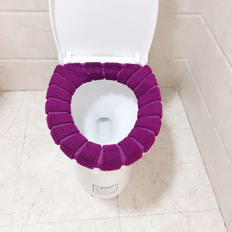 针织O型马桶垫创意南瓜纹图案保暖四季通用马桶坐垫厂家直销