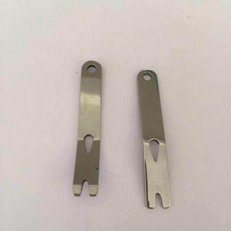 EDC户外小工具   迷你不锈钢撬棍曲柄刮刀绕线器 迷你小撬棍 刮刀