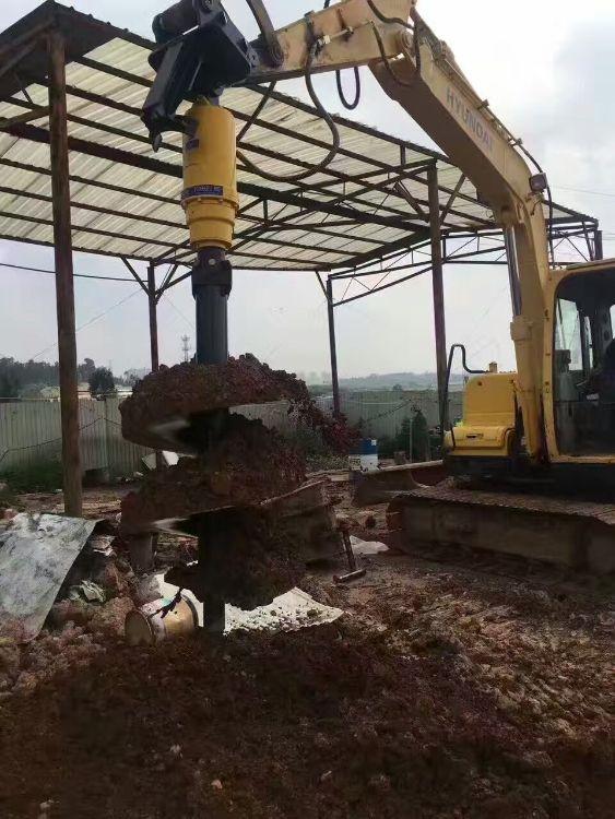 批发零售挖机螺旋钻机 挖机打桩机打光伏孔 工地拖拉机