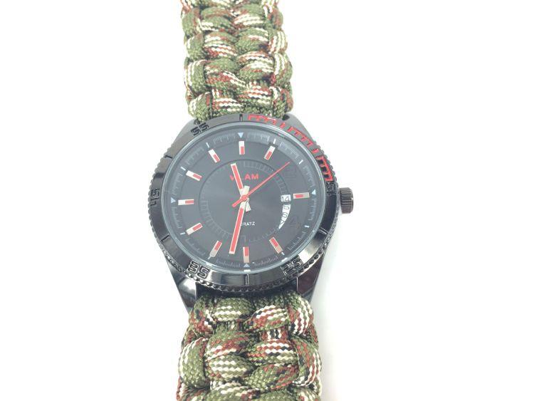 厂家批发男女通用户外求生运动伞绳表带手表 可定制