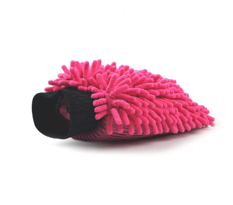 厂家供应毛绒清洁手套-雪尼尔网布纤维布耐磨套指清洁去污手套