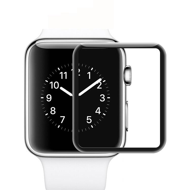 适用苹果iwatch 4手表钢化玻璃膜38mm全胶钢化膜42mm手表防爆贴膜