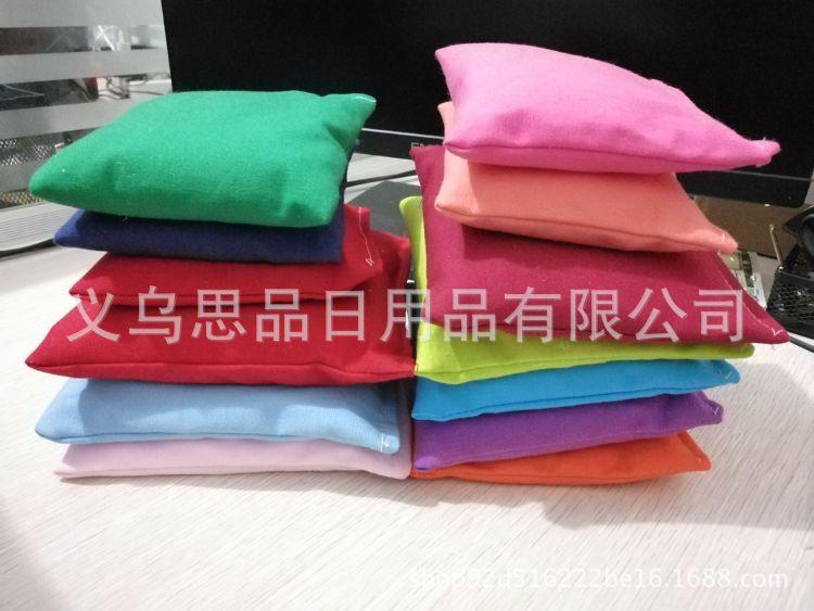 义乌批发小沙包儿童游戏包环保彩色5-50cm七色布 支持外贸定做