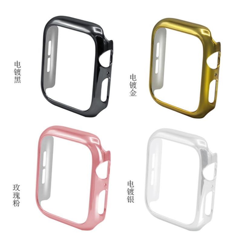 适用苹果apple watch四代PC电镀手表保护套防摔iwatch4手表壳