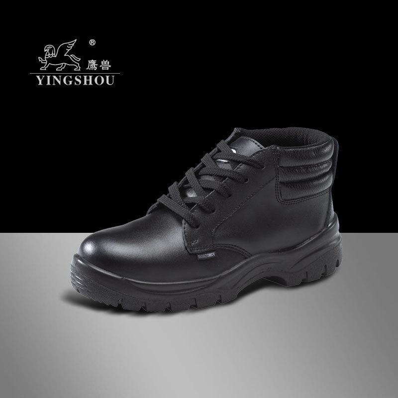 厂家直销鹰兽牌9956光面牛皮防砸皮鞋 男士系带工作鞋 工地鞋批发