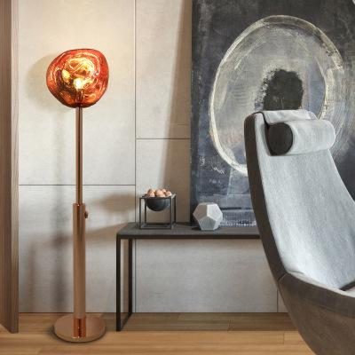 中山灯饰公司北欧后现代熔岩落地灯样板房设计师酒店落地灯