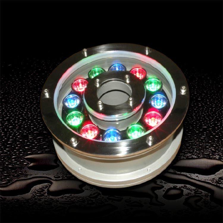 LED水下灯具喷泉灯水底灯水池灯七彩RGB6W9W12W18W水下灯景观射灯