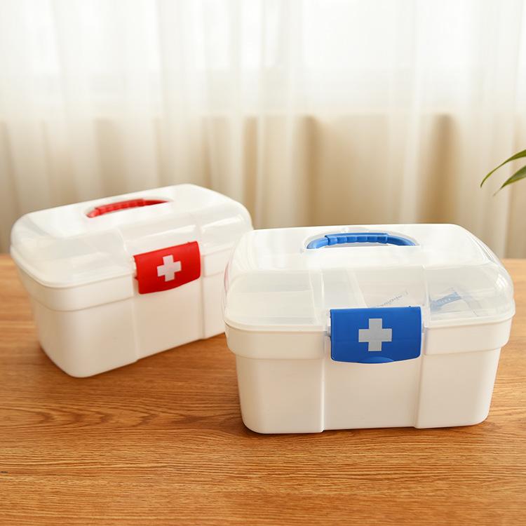 爆款推荐 厂家直销塑料箱 家用收纳盒小药箱塑料