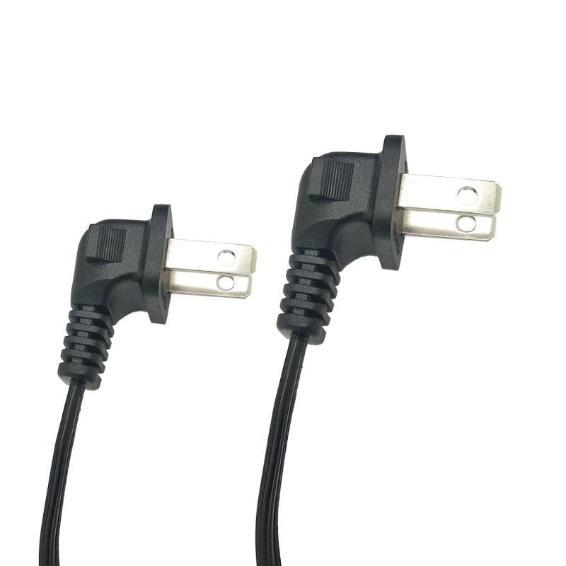 厂家直销纯铜美式两插带303开关T5梅花尾电源线 美式三插电源线