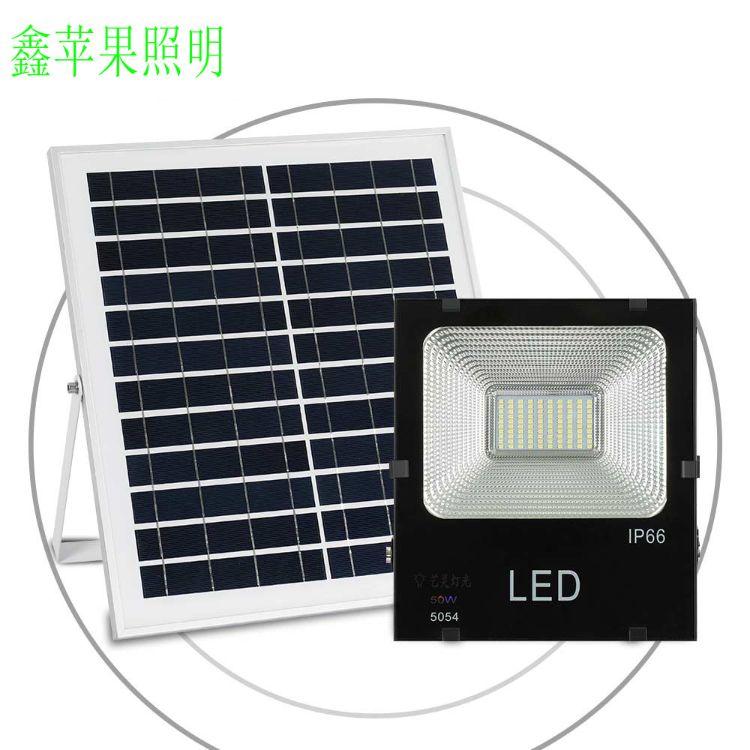 新智能感应50w太阳能路灯投光灯家用庭院灯 户外防水LED路灯直销