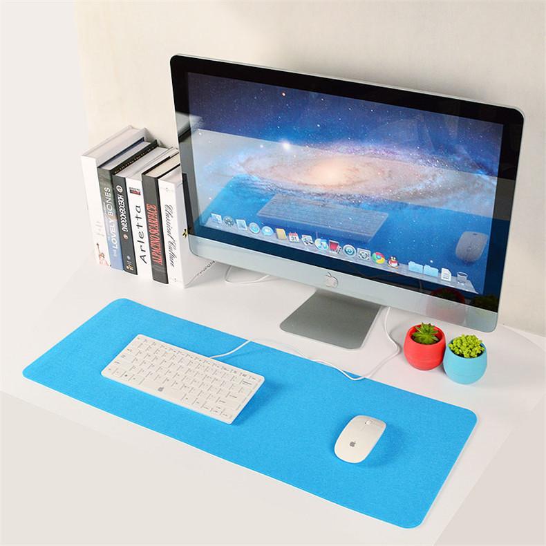 鼠标垫超大号 加厚毛毡电脑桌垫简约鼠标垫可定制 游戏办公桌面垫