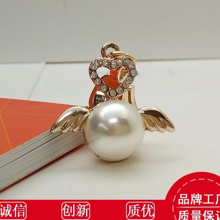 3号5号锌合金珍珠拉链头 diy飞天使拉片 时尚女装箱包镶钻拉头