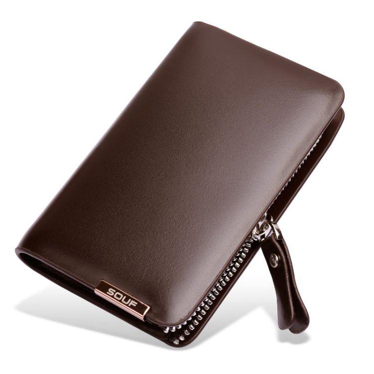 厂家大容量钥匙包4S店礼品牛皮卡包男女式牛皮汽车多功能锁匙扣