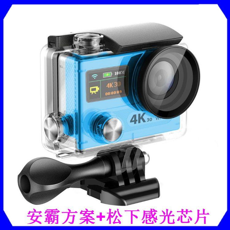 4K双屏运动相机V80R  遥控WiFi运动DV 航拍潜水神器安霸A12方案