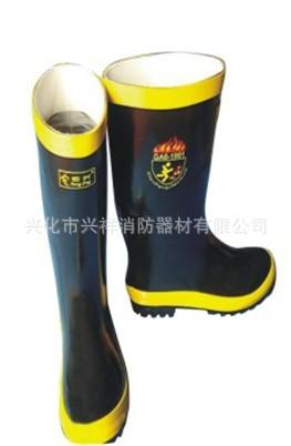 消防员专用胶靴 雨靴 防化靴 灭火防护靴
