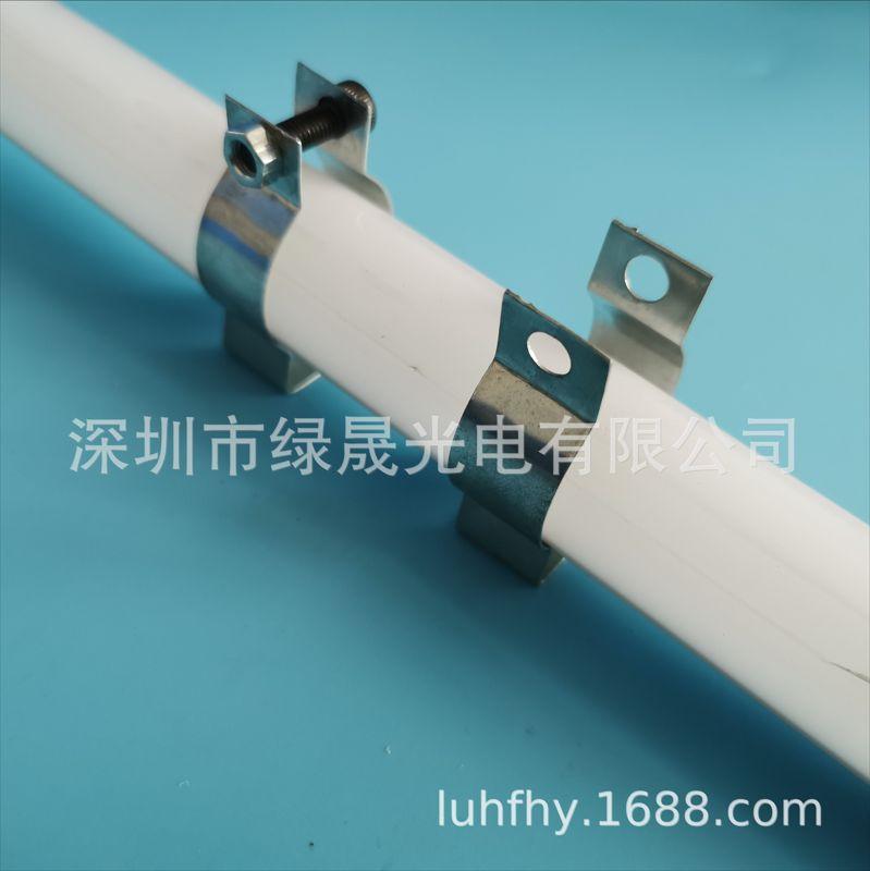 工厂直销 T8 T10灯管固定夹子螺丝锁紧锰钢LED灯管卡扣