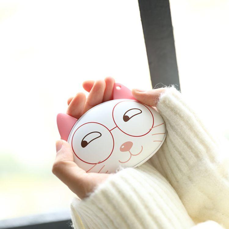 egogo猫咪猫格格移动电源暖手宝 暖宝宝4800毫安大容量充电暖手宝