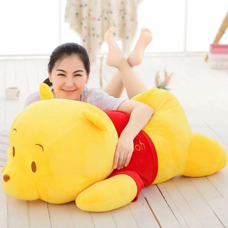 批发可爱趴趴维尼熊毛绒玩具公仔小熊抱抱熊抱枕趴枕儿童生日礼物