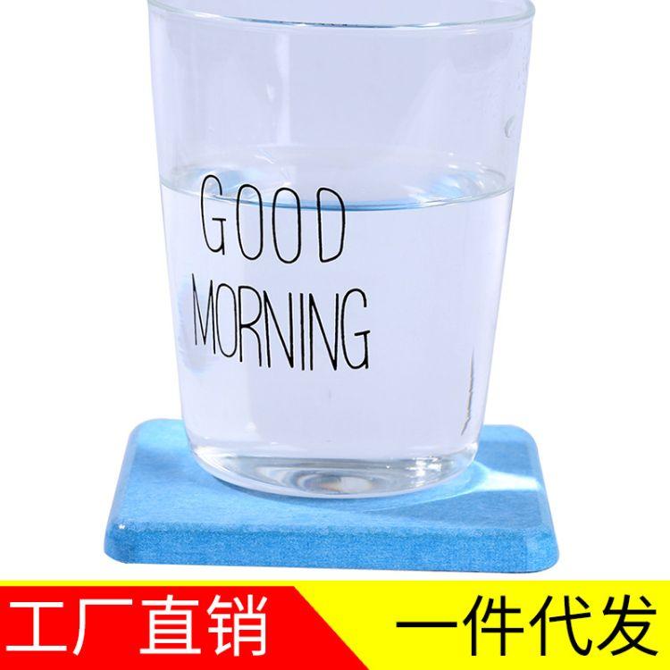 硅藻土杯垫平面形方形客厅吸水创意茶杯垫硅藻泥杯垫批发