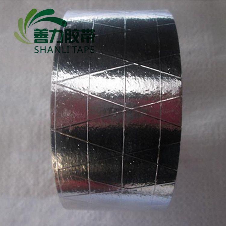 即墨加筋铝箔胶带 平度空调地暖管道保温隔热加筋抗撕裂铝箔胶带