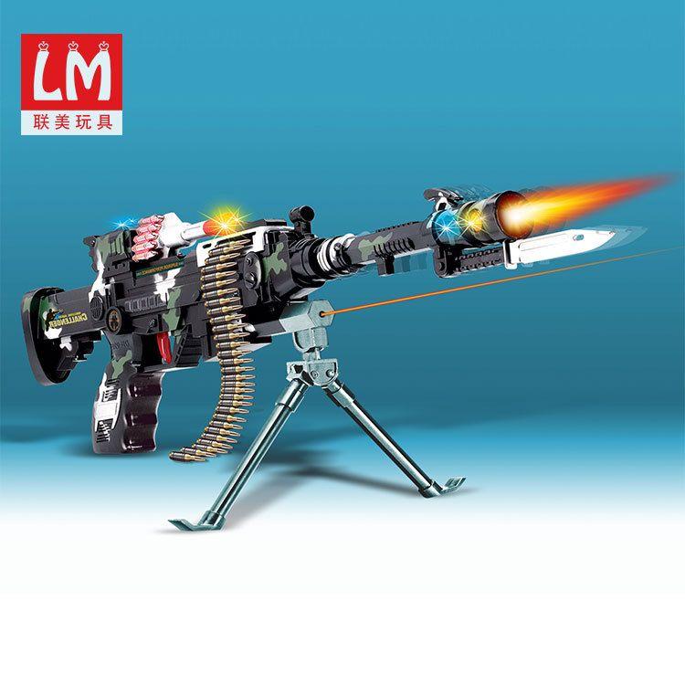 热卖玩具东发9218B 闪光音乐振动军事迷彩枪 电动枪玩具儿童玩具