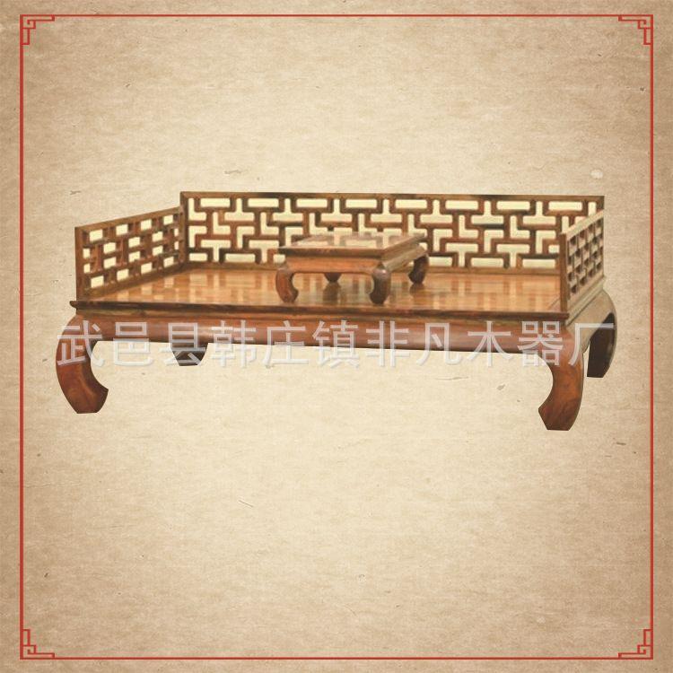 火爆热卖中 古典家具罗汉床 明清仿古实木茶室休闲罗汉床