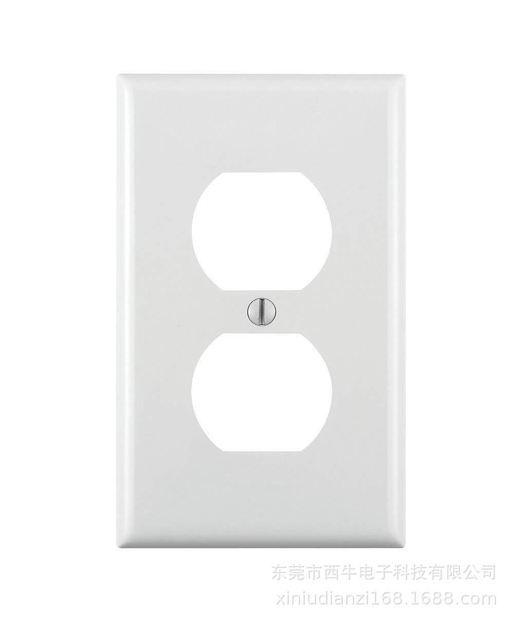 工厂直销 美式插座塑胶面壳 面盖 120型双联塑料面板美标插座专用