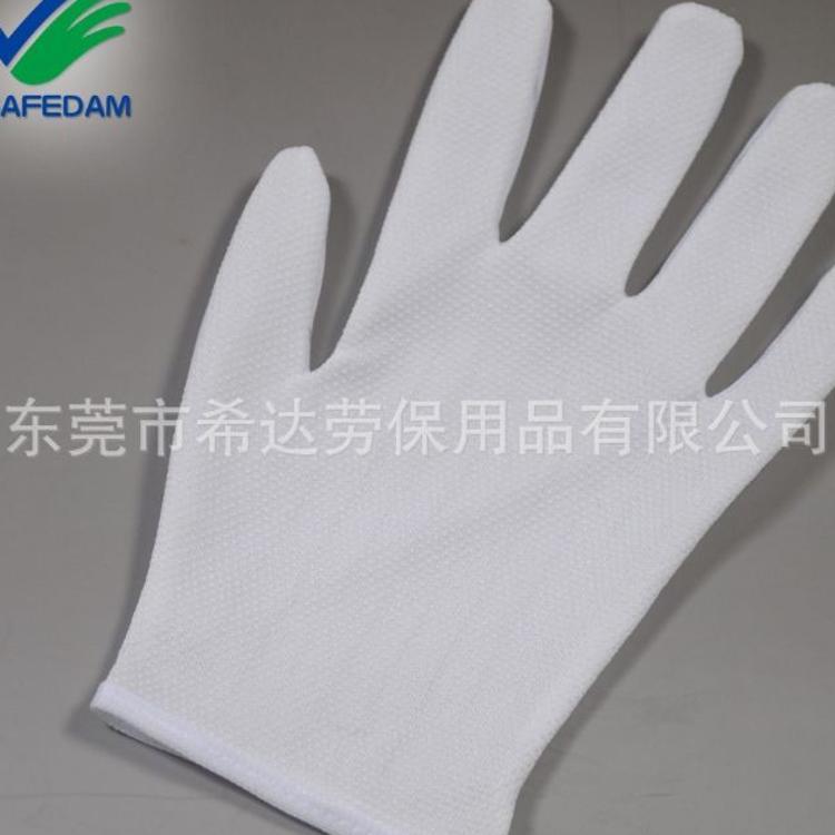 厂家直销点塑点胶防滑1.0防静电手套 电子厂专用劳保作业手套