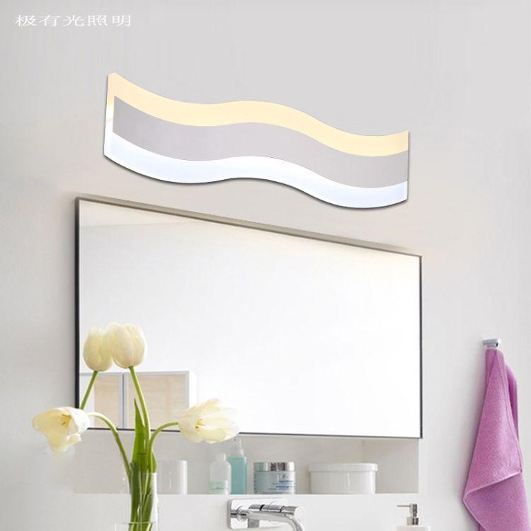现代简约LED镜前灯双色酒店工程浴室灯卫生间平板壁灯镜前灯厂家
