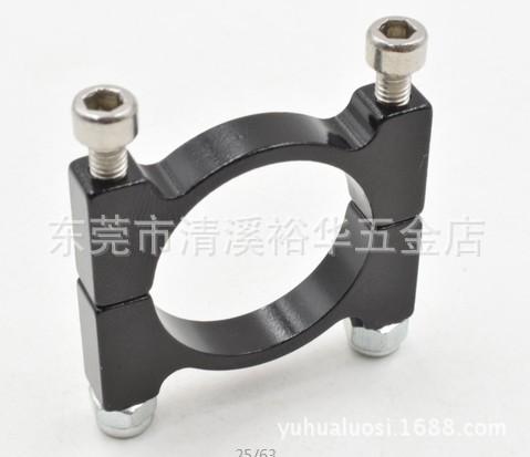 多种规格CNC铝合金管夹 轻型双孔塑料管夹 固定铝合金管夹