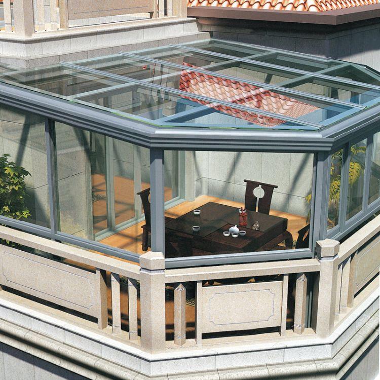 大理阳光房定制钢化玻璃隔热断桥铝合金阳台玻璃房