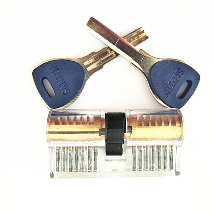 透明锁挂锁 月牙双头锁 练功锁  AB卡巴锁 牛头 AB锁!