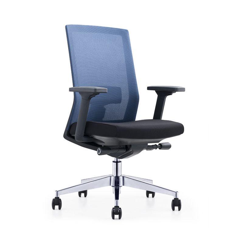 爆款办公椅网布现代简约办公椅弓形职员椅员工椅批发
