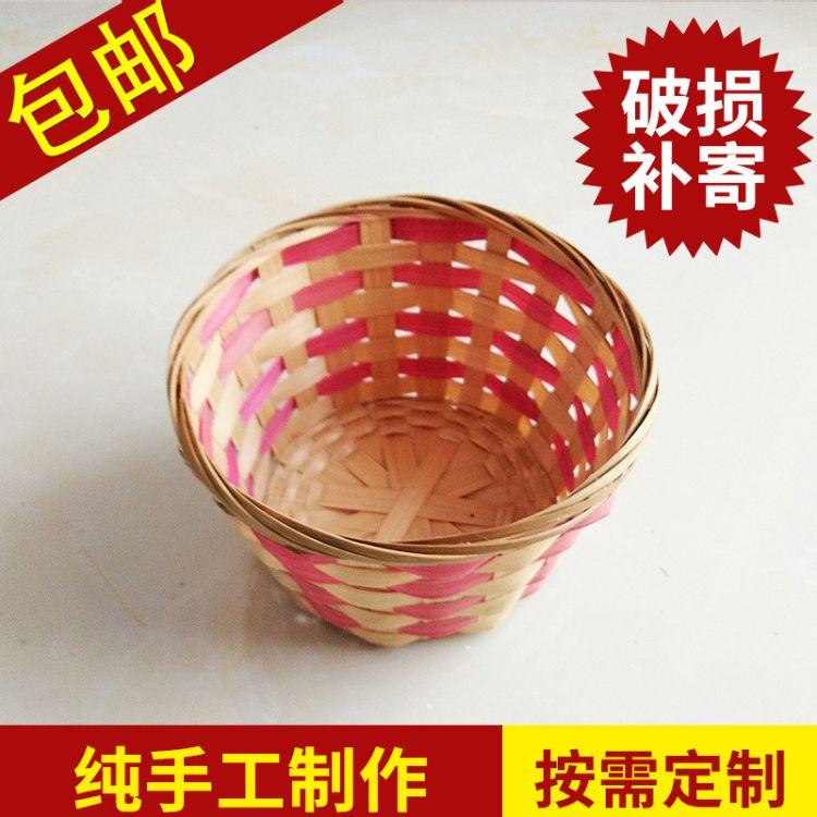 一强 竹编鸡蛋篮 手工编织收纳篮 竹制工艺品 农副产品包装篮
