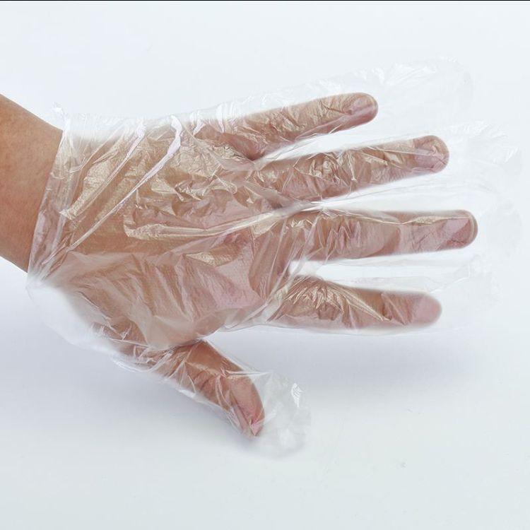 一次性塑料透明手套抽取式盒装 PE薄膜手套 食品家用旅游