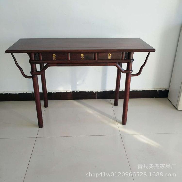 厂家批发中式红木家具实木 赞比亚血檀供桌玄关台门厅条案
