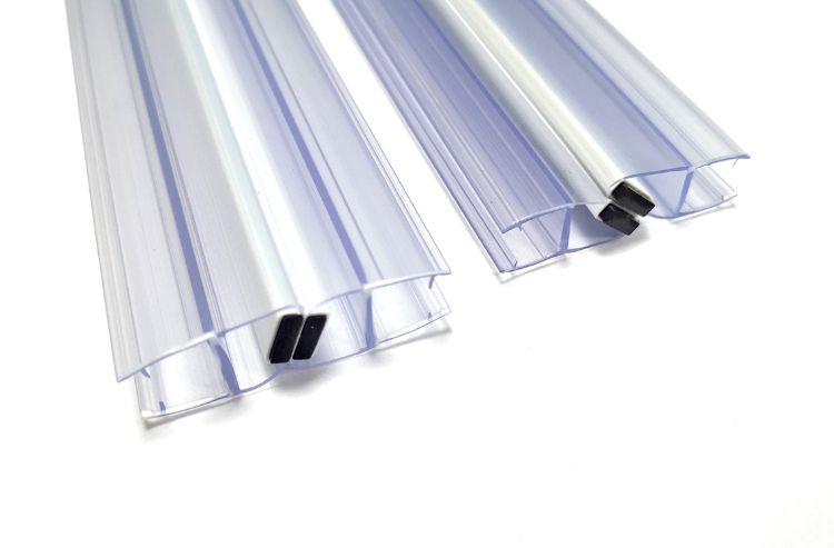 PVC材质两通用 180°90°135°耐热  夹8到12mm玻璃磁条厂家直销