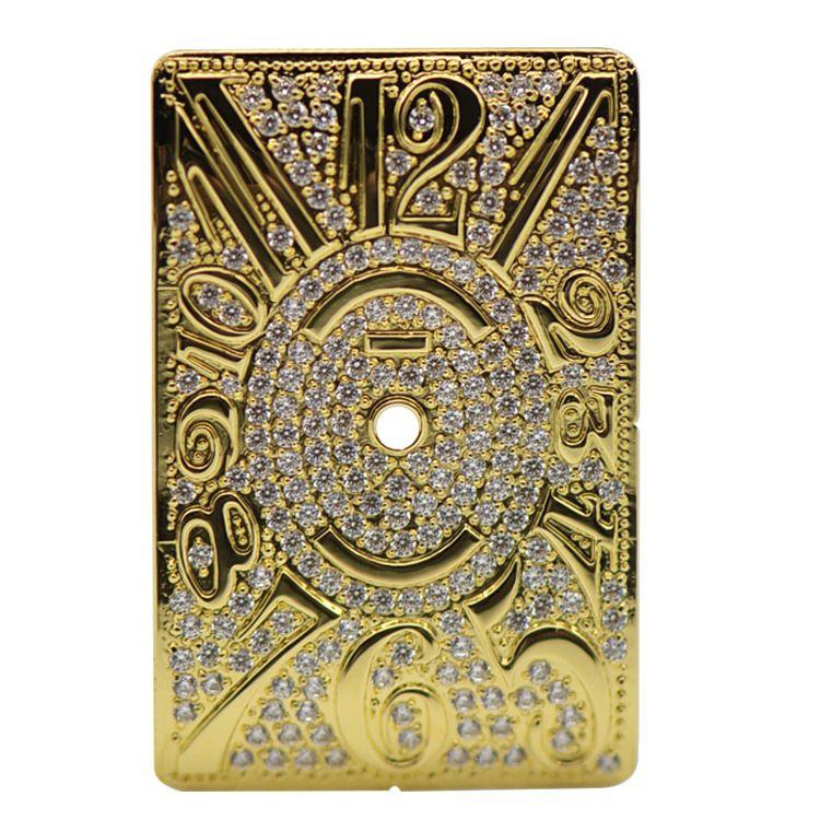 厂家直销专业手表配批发定制 镶钻镶嵌锆石长方形手表铜面