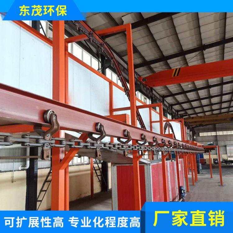 东茂环保厂家供应 全自动喷涂喷塑生产线标准型悬挂式静电喷涂流水线