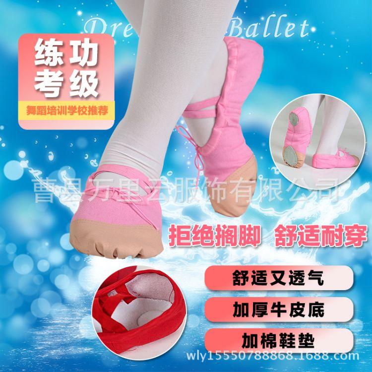 儿童舞蹈鞋软底秋季芭蕾舞鞋成人练功舞鞋跳舞鞋子瑜伽鞋猫爪鞋女