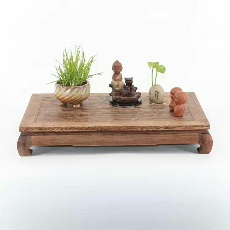 厂家直销鸡翅木底座 花瓶盆景奇石长方形木底托 红木工艺品摆件