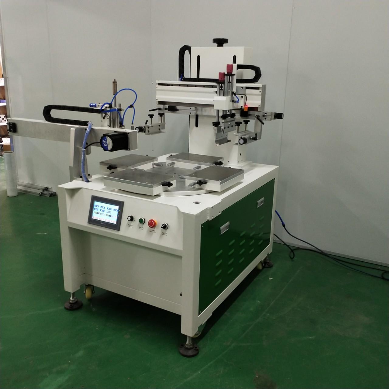 骏晖 浙江生产厂家直供锯条锯片丝印机 玻璃薄膜片材双色转盘丝印机
