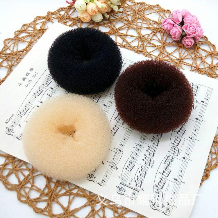 厂家直销 现货供应10公分甜甜圈盘发器 丸子头 花苞头盘发工具
