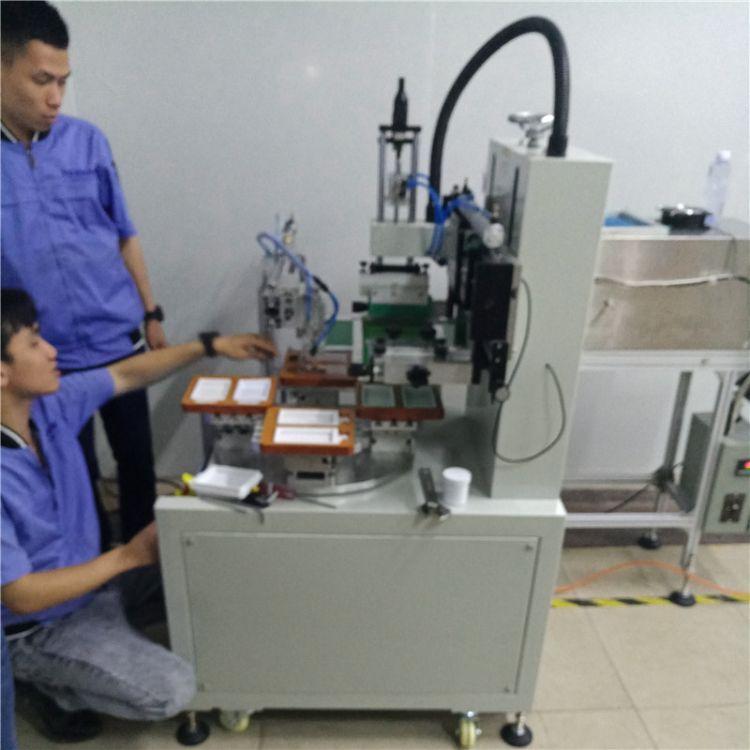 塑料外壳丝印机直销 骏晖印刷机械 四工位转盘丝印机 操作方式自动下料