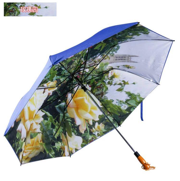 2折自动高尔夫伞双层伞三人版超大自动28.5寸雨伞 广告伞定制LOGO