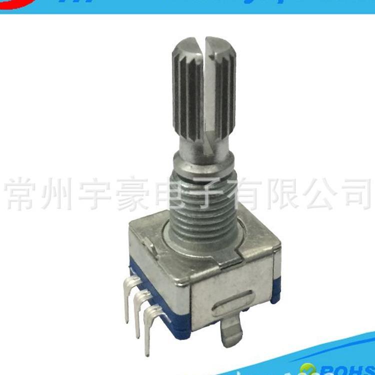 销售 YH 11mm旋转式带开关编码器 增量型车载功放用