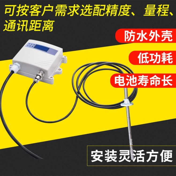不锈钢管道式厨房油烟浓度有线传感器 0-5V 0-10V 4-20mA