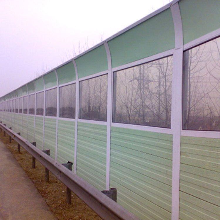 厂家供货楼顶高架半透明型声屏障 地铁道路冲孔声屏障规格齐全